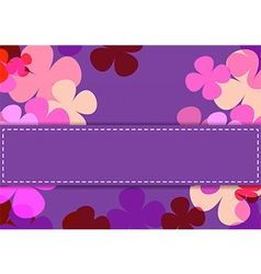 Flowers texture of purple color vector image