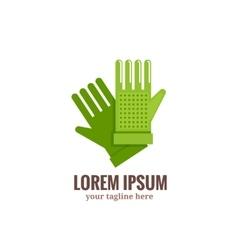 Garden gloves logo vector image