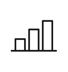 graphic bar chart icon vector image
