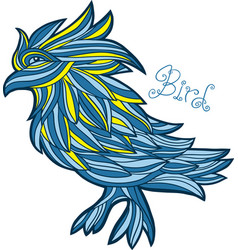 Graphic bird vector