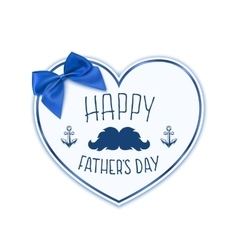 Happy Fathers Day Background with paper heart vector