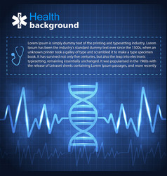 healthcare blue background vector image