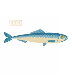 Herring cartoon style vector