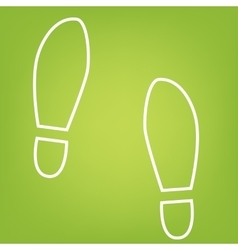 Imprint shoes line icon vector image