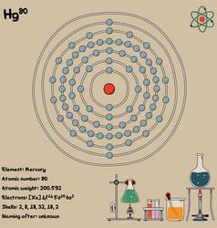 Infographic element mercury vector