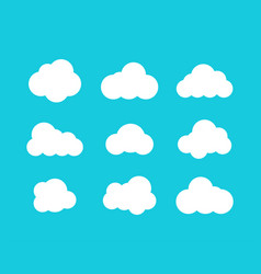 isolated clouds icons cloud icons in trendy flat vector image