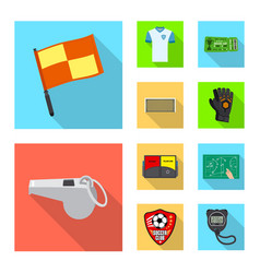 isolated object soccer and gear symbol vector image