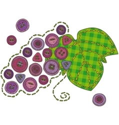 Isolated Patchwork Grape vector