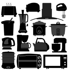 kitchen appliances electronic electrical vector image