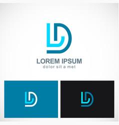 line letter d company logo vector image