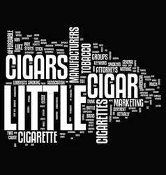Little cigars text background word cloud concept vector