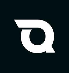 logo letter q wing vector image