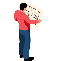 looking into plan composition vector image