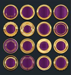 luxury golden design elements collection 6 vector image