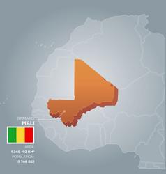 Mali information map vector