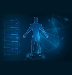 medical health care human body diagnostics vector image