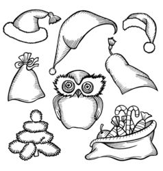 Merry Christmas attributes vector image