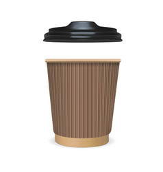 mock up paper cup of coffee tea milk vector image