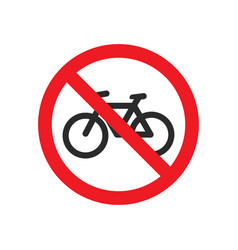no bicycle road sign vector image