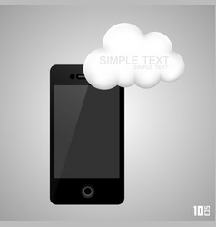 Phone with a cloud vector