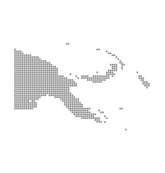 pixel map of papua new guinea dotted map of papua vector image