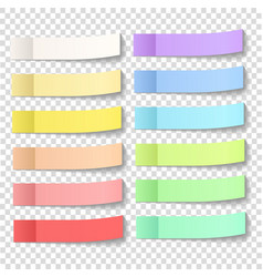 post note sticky stickers with peel off corner vector image