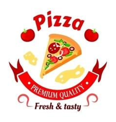 Premium pizza icon for pizzeria menu design vector