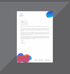 Premium red and blue letterhead with moderns vector