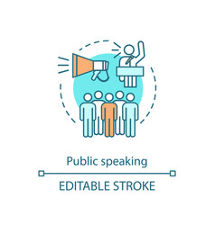 Public speaking concept icon oratory vector