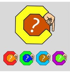 Question mark sign icon Help symbol FAQ sign Set vector image