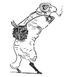reynard the fox bellin the ram vintage vector image
