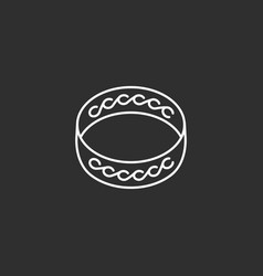 ring icon outline icon vector image