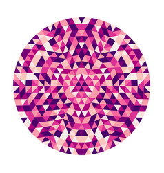 round abstract geometric triangle kaleidoscopic vector image