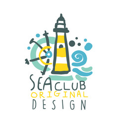 Sea club logo original design summer travel and vector
