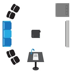 Set of icons for presentation - top view sofa vector