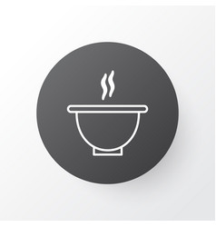 soup icon symbol premium quality isolated bowl vector image