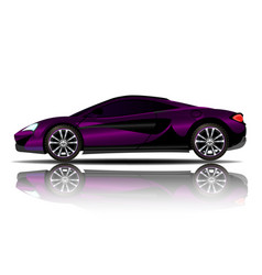 sport car purple color white background ima vector image