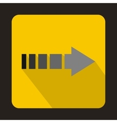Striped arrow icon flat style vector image