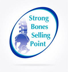 Strong bones selling point vector