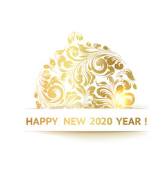 The happy new year card vector