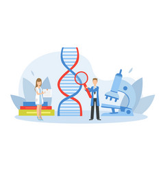 tiny genetics changing dna structure scientists vector image