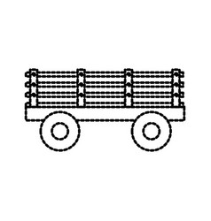 trailer on wheels for transportation of farm vector image