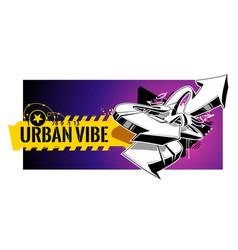 urban graffiti banner vector image