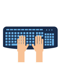 User with keyboard icon vector
