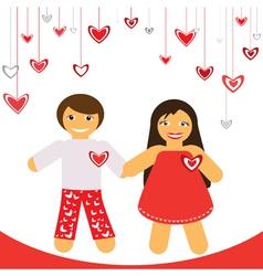 Valentine couple vector