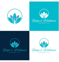 yoga and wellness logo and icon vector image
