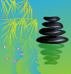 Zen stone yoga vector