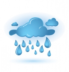 cloud and drops vector image vector image