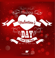 happy valentines day background with party poster vector image vector image