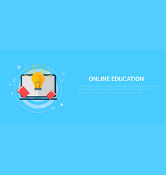 online education banner vector image vector image